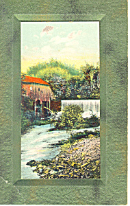 Old Mill Scene On Heavy Stock Card P19800
