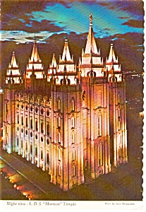 Salt Lake City UT LDS Temple Postcard p1981 (Image1)