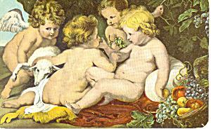 Jesus der heil Johannes u zwei Kinder Postcard p19848 (Image1)