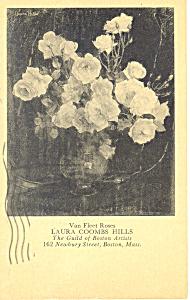 Van Fleet Roses,Laura Coombs Hills Postcard p19849 (Image1)