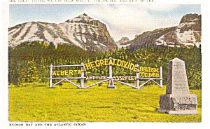 Continental Divide Canada Postcard (Image1)