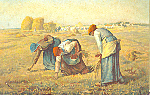 Les glaneuses  The Gleaners Millet Postcard p19931 (Image1)