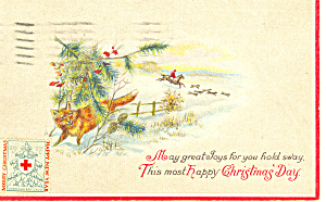Christmas card with hunting scene (Image1)