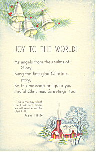 Joy To The World Psalm 118:24 P19955