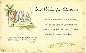 Best Wishes For Christmas Luke 2:14 P19956