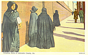 Amish Ladies Postcard p19999 (Image1)