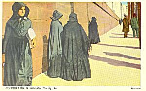 Amish Ladies Postcard p19999 (Image1)