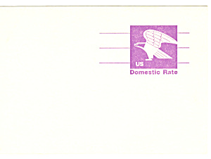 UX88 Violet Eagle Domestic Rate Postal Card (Image1)