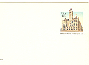 UX99  13 cent Old Post Office Washington DC Postal Card (Image1)