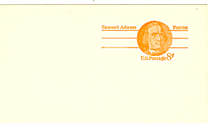 Ux66 8 Cent Samuel Adams Postal Card