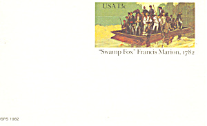 UX94 13 Cent Swamp Fox, Francis Marion Postal Card (Image1)