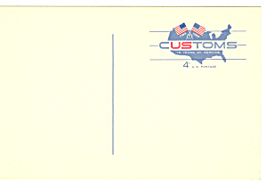 UX50 4 Cent red and Blue Custom Postal Card (Image1)