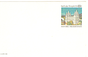 Ux83 10 Cent Salt Lake Temple Postal Card