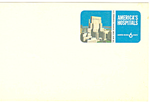 UX60 6 Cent blue America's Hospitals Postal Card (Image1)