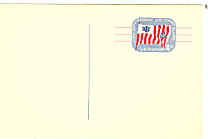 UX52 4 Cent Blue/Red US Coast Guard Postal Card (Image1)