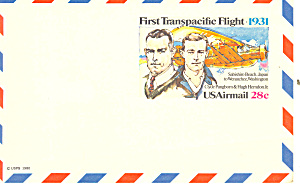 Uxc19 28 Cent Transpacific Flight Postal Card