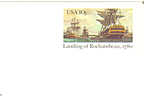 Ux 84 10 Cent Landing Of Rochambeau Postal Card