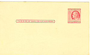 UX38 2 Cent Carmine Rose Franklin Postal Card (Image1)