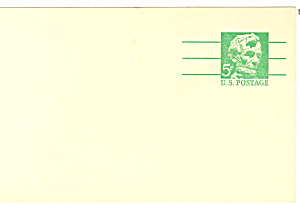 UX55 5 Cent emerald Lincoln Postal Card (Image1)