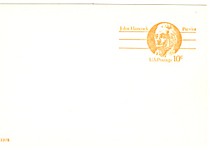 UX75 10 Cent John Hancock Postal Card (Image1)