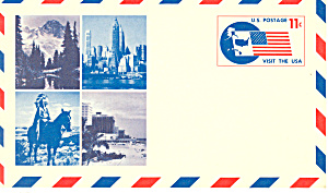 UXC5 11 Cent Visit The USA Postal Card (Image1)