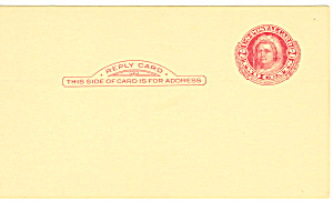 2 Cent red Martha Washington Reply Postal Card (Image1)
