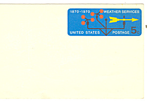 UX57  5 Cent Weather Services Postal Card (Image1)