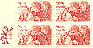 #2011 -  20 Cent Aging Together Mail Early Block (Image1)