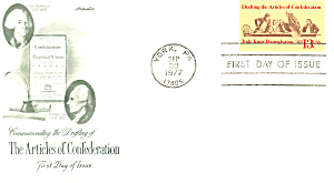 #1726 Articles Of Confederation Fdc Cachet