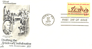 #1726-13 Cent Articles Of Confederation Fdc Cachet