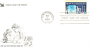 #2087-20 cent Heath Research FDC Cachet (Image1)