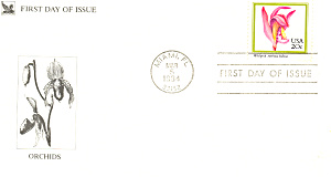 #2076-20 cent Wild Pink FDC Cachet (Image1)