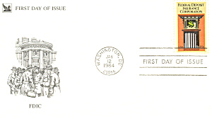 #2071-20 cent FDIC FDC Cachet (Image1)