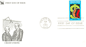 #2075-20 Cent Credit Unions Fdc Cachet