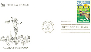 #2066-20 cent Alaska Statehood FDC Cachet (Image1)