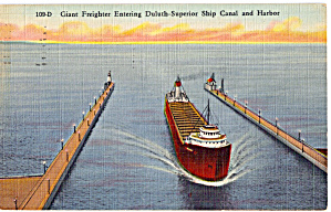 Giant Freighter Duluth Superior Ship Canal p20115 (Image1)