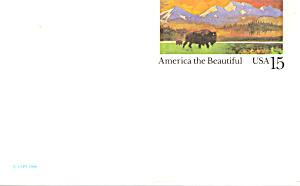 UX120 15 Cent Historic Preservation,Bison Praire Postal (Image1)