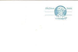 UX64 6 Cent Blue John Hanson Postal Card (Image1)