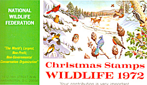 1972 National Wildlife Federation Christmas Stamps P20155
