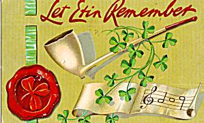 Let Erin Remember Postcard p20164 1910 (Image1)
