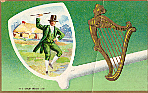 The Old Irish Jig Vintage Postcard p20165 (Image1)