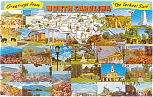 North Carolina State Map Postcard (Image1)