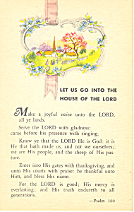 Let Us Go Into The House of the Lord.Psalm 100 (Image1)