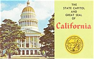 Sacramento CA State Capitol Postcard p2102 (Image1)