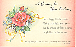 Birthday Greeting Psalm 33:22 p21033 (Image1)
