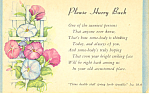 Please Hurry Back  Isaiah 58:8 p21038 (Image1)