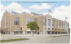 Coliseum Indiana State Fair Grounds Postcard P2103