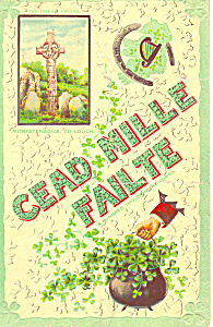Cead Mille Failte Postcard p21074 (Image1)