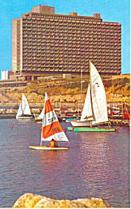 Tel Aviv Hilton Israel Postcard p21092 (Image1)