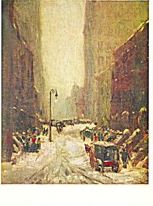 New York Street in Winter Robert Henri Postcard p21125 (Image1)